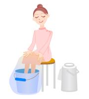 足湯の方法